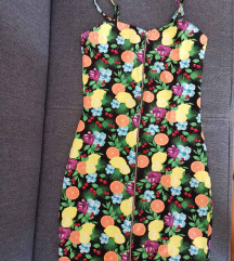 Citrom mintás nyári ruha
