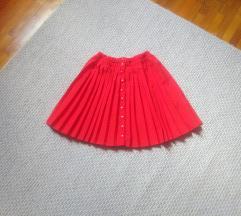 Piros rakott/pliszírozott szoknya S