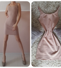 púder/nude extra sztreccses bodycon ruha + ajándék