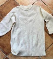 H&M csontszínű gyapjú pulóver pulcsi