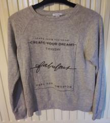 Szürke feliratos pulóver
