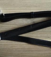 Új fekete lakk táska vállpánt