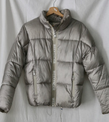 BERSHKA ezüst puffer jacket