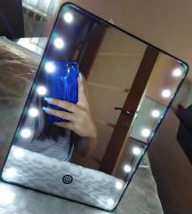 Új! Nagy 16 LED világító asztali smink tükör