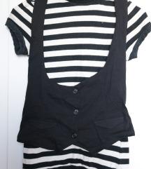 Eladó használt fekete-fehét csíkos Zara garbó
