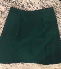 Zöld divatos szoknya