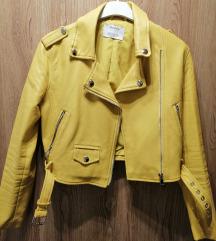 Bershka mustársárga bőrkabát