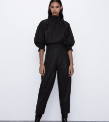 Zara műbőr viaszos nadrág