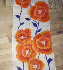 Kézzel festett selyem kendő