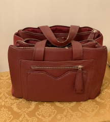 Parfois bordó táska