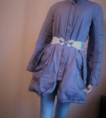 Manlino lilás-szürke átmenetű női télikabát 38-as