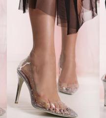 Sergio Todzi Strasszos átlátszó magassarkú cipő