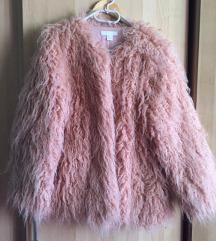 H&M rózsaszín műszörme kabát
