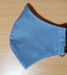 Arcmaszk / szájmaszk gumi pántos / kék / új