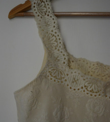 Vintage csipkés fehér trikó
