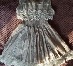 Bézs színű elegáns ruha