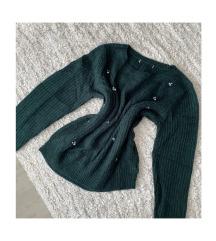 NEXT zöld kötött pulóver