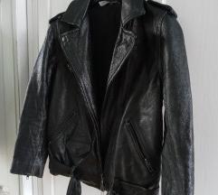 H&M Divided VALÓDI BŐR biker jacket XS-S