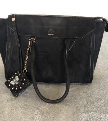 Parfois fekete velúr táska