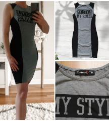 FB SISTER fekete-szürke ruha
