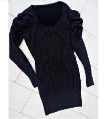 Fekete csillámos ruha / hosszú pulcsi  38-40