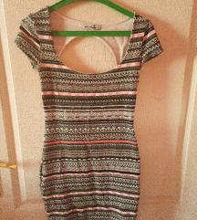 fekete mintás mini ruha/tunika