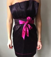 Alkalmi padlizsán színű Artz Modell ruha