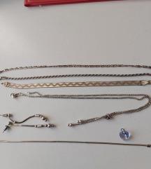 Ezüst ékszerek és Swarovski medál (szív)