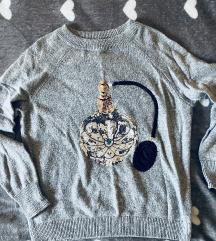 H&M flitterekkel díszített meleg pulóver