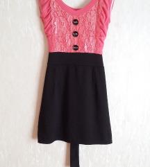 • Pink-fekete kisruha •