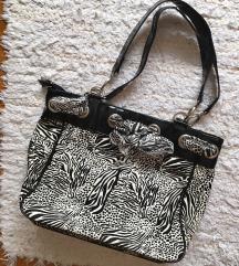 ÚJ zebra mintás táska