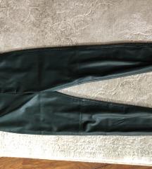 Zara műbőr zöld nadrág címkés