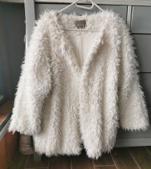 Orsay fehér szőrme kabát