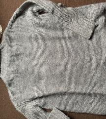 Szurke kotott Zara pulcsi