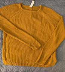 Mustársárga pulóver
