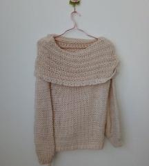 Új, címkés Glamour lustán kötött laza pulóver M