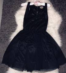 Bershka Dressy tüll fekete ruha.S-es