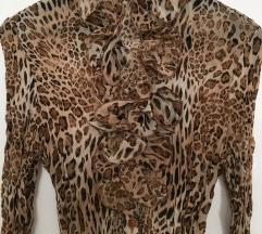 Alkalmi business leopárdmintás leopárd ing blúz