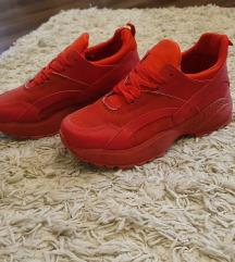 Piros divat sportcipő