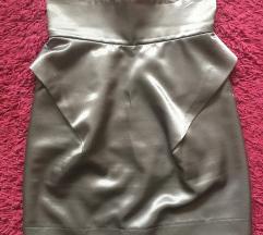 Magasderekú ezüst színű miniszoknya XS