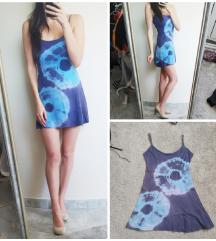 Kék pántos nyári ruha (S)