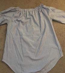 Kék halszálkás ing