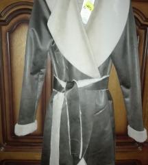 ÚJ szőrme bunda öves irha puha kabát