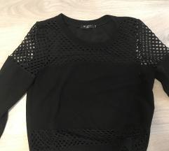 Fekete crop pulóver S