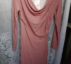 Orsay szürke pink csíkos ruha(ingyen posta