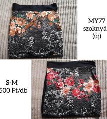 MY77 virág mintás szoknyák (új)