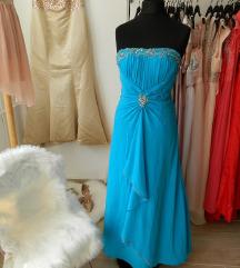 Különleges kék alkalmi ruha