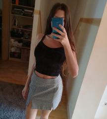 Új Bershka Gingham Skirt 🏁