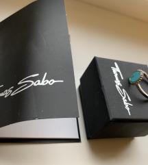 Türkiz köves Thomas Sabo gyűrű 52-es
