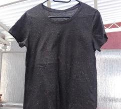 H&m basic fekete cirmos póló